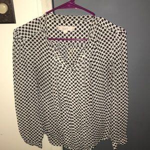 Tie neck blouse